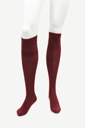 Ardene Burgundy Over the Knee Socks