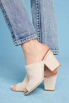 Anthropologie Calf Hair Block Heels