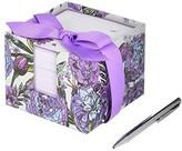 Vera Bradley Notecube with Pen (Lavender Meadow) Wallet