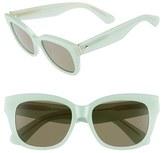 Kate Spade Women's 'Lorelle' 53Mm Cat Eye Sunglasses - Green