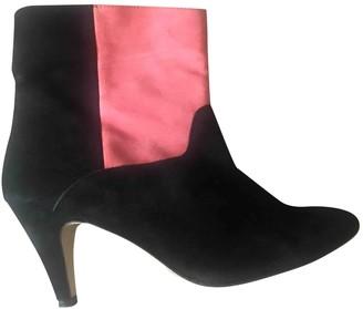 Ganni Black Suede Boots