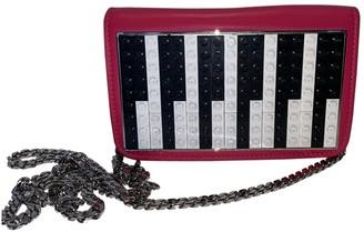 Les Petits Joueurs Pink Leather Handbags