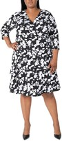 Thumbnail for your product : Robbie Bee Plus Size Surplice Tiered Dress