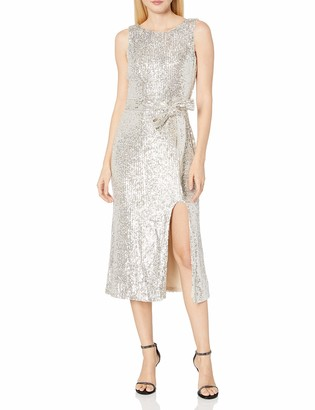 Dress the Population Women's Karlie Sleeveless Stretch Sequin Midi Sheath Dress