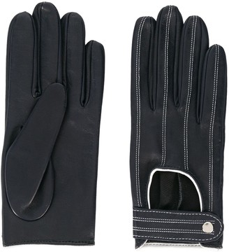 Manokhi Contrast Stitching Driving Gloves