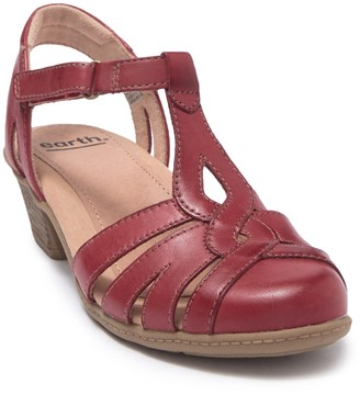 Earth Capella Leather T-Strap Sandal