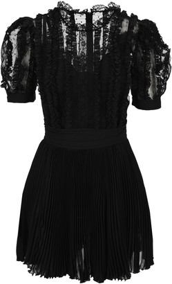 Dolce & Gabbana Lace Ruffled Mini Dress