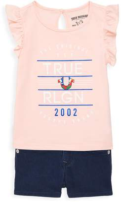 True Religion Little Girl's 2-Piece Flutter Tank & Short Set