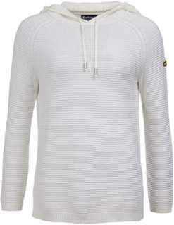 Barbour International - Doran White Knitted Hooded Sweater - 14