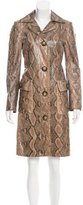 Michael Kors Python Knee-Length Coat