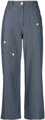 Boutique Moschino High-Waisted Wide Leg Jeans