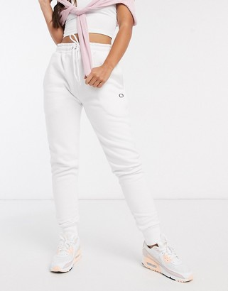 Criminal Damage joggers in white