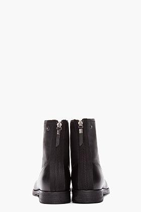 Diesel Black ankle-high Platinum boots