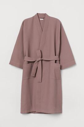 H&M Waffled Bathrobe - Pink