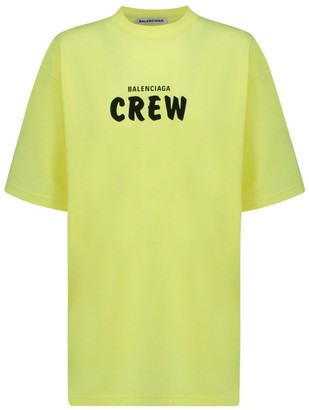 Balenciaga Crew Logo Print T-Shirt