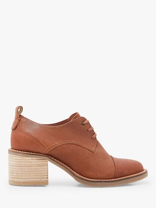 White Stuff Chunky Lace Up Leather Shoes, Mid Tan