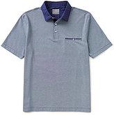 Thomas Dean Honeycomb Short-Sleeve Polo Shirt