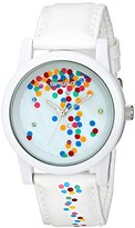 Sprout Women's ST/5532MPWT Confetti White Tyvek Watch