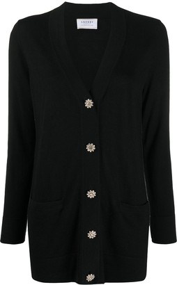 Snobby Sheep crystal-button V-neck cardigan