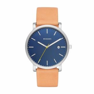 Skagen Men's Hagen Quartz Analog Stainless Steel and Leather Watch