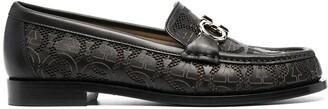 Salvatore Ferragamo perforated Gancini logo strap loafers