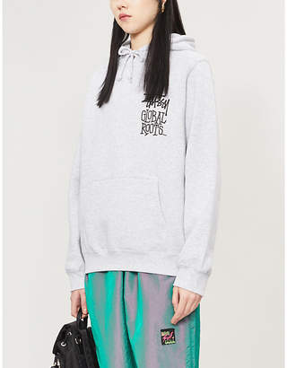 Stussy Global Roots branded cotton-blend hoody