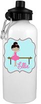 20-Oz. White Personalized Black Hair Ballerina Water Bottle