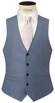 John Lewis Woven In Italy Sharkskin Tailored Waistcoat, Ice Blue