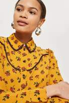 Topshop Rodeo floral spotted shirt