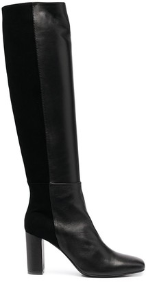 Paul Warmer Knee-High Heeled Leather Boots