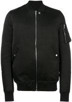 Rick Owens Flight bomber jacket - men - Cotton/Polyester/Cupro/Wool - 48