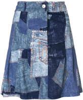 Moschino patchwork effect skirt