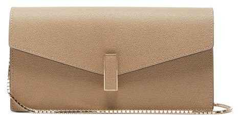 Valextra Iside Grained-leather Clutch - Womens - Grey