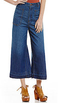 Free People Dawn To Dusk Fray Hem Culotte Jeans