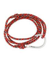 Miansai Hook Rope Bracelet, Red