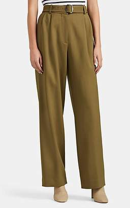 Sies Marjan Women's Blanche Belted Wide-Leg Pleated Trousers - Olive