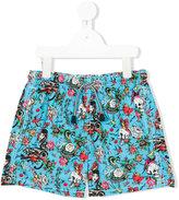Mc2 Saint Barth Kids x Ed Hardy tattoo print swim shorts