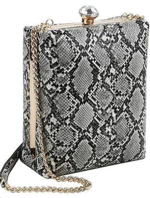 Bag Boutique Snake Pattern Structured Bag