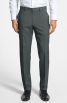 BOSS Men's 'Genesis' Flat Front Wool Trousers