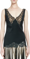 Stella McCartney Sleeveless Lace-Trim Camisole, Dark Green