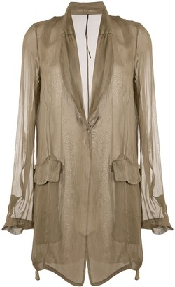 Masnada Sheer Single-Breasted Jacket