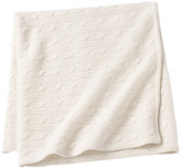 Sofia Cashmere Angel Cable Knit Baby Throw - Ivory