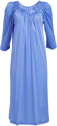Exquisite Form Women's Nightgowns VICTORY - Victory Violet Ankle-Length Nightgown - Plus