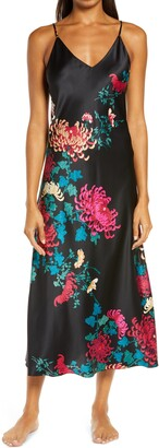 Natori Chrysanthemum Satin Nightgown