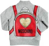 Moschino Backpack Print Cotton Sweatshirt