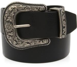 Frye Western-Buckle Leather Belt