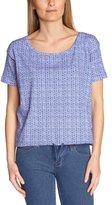 Dorotennis Women's TEE-SHIRT BRASSIERE mc imprimé Bandana jersey lycra Floral Round Collar Short sleeve T-Shirt - -