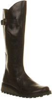 Fly London Mol Low Wedge Buckle Boots