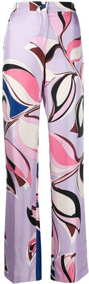 Emilio Pucci Straight-Leg Printed Trousers