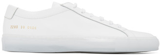 Common Projects White Ice Sole Achilles Low Sneakers